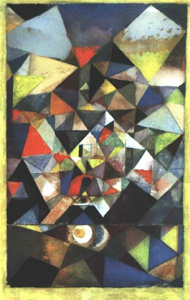 With the Egg by Paul Klee reproduction wall art painting