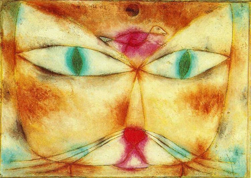 Cat and Bird by Paul Klee reproduction wall art painting