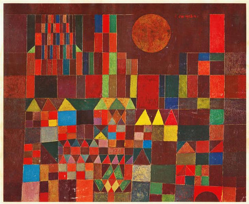Castle and Sun by Paul Klee reproduction wall art canvas painting