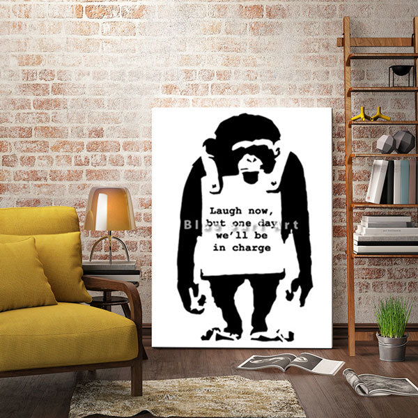 Banksy Monkey - Living room decor