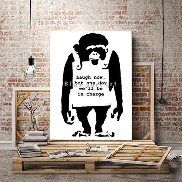 Banksy Monkey - loft studio showcase