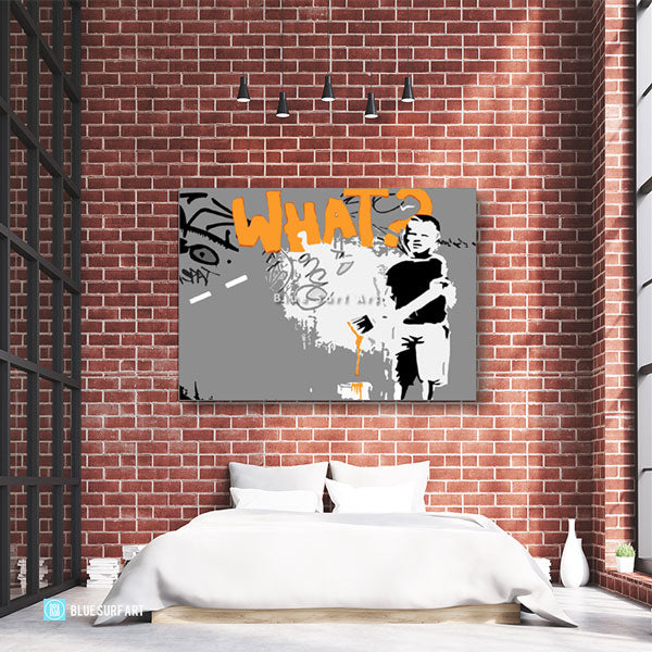 Banksy What Oil Painting on Canvas  - bedroom showcase