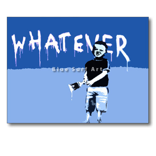Banksy Whatever Oil Painting on Canvas