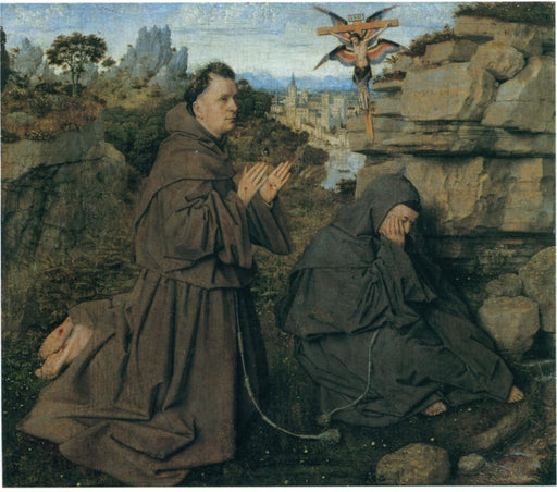 Saint Francis Receiving the Stigmata by Jan Van Eyck Reproduction Painting by Blue Surf Art by Jan Van Eyck Reproduction Painting by Blue Surf Art