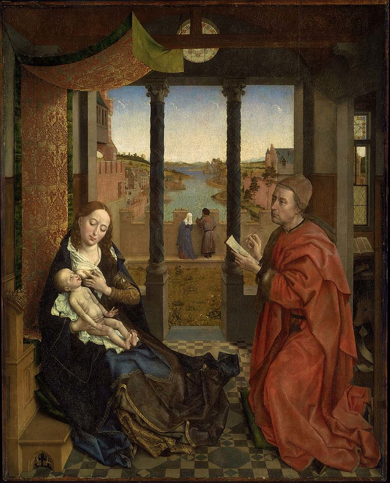 Saint Luke Drawing the Virgin by Jan Van Eyck Reproduction Painting by Blue Surf Art
