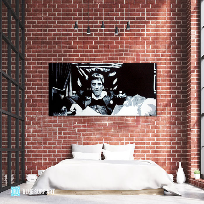 Scarface - Tony Montana Pop Art Paintin - bedroom showcase