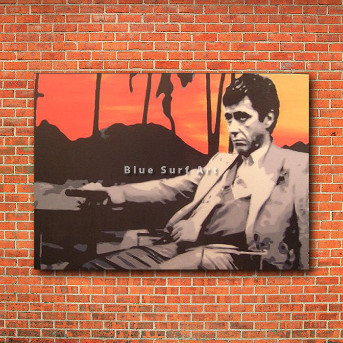 Scarface Sunset - red brick wall