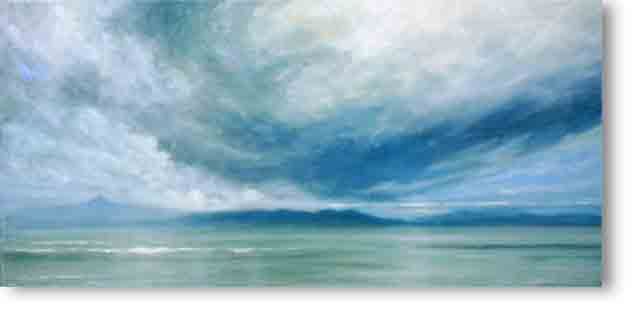 Storm Over Jura Painting by Derek Hare