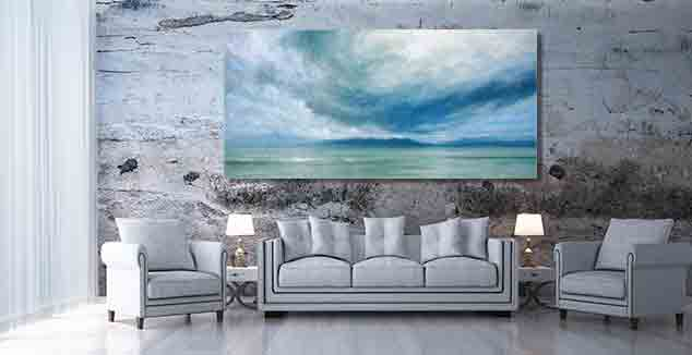 Storm Over Jura Painting by Derek Hare - Living room loft style