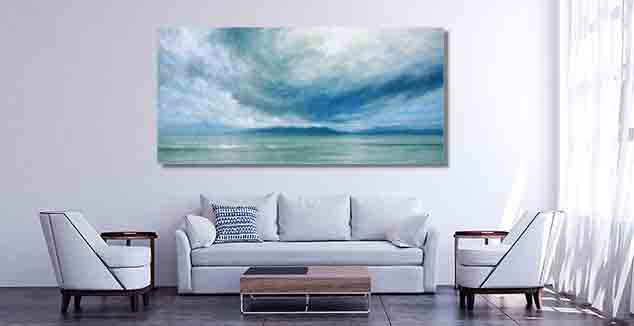 Storm Over Jura Painting by Derek Hare - white wall