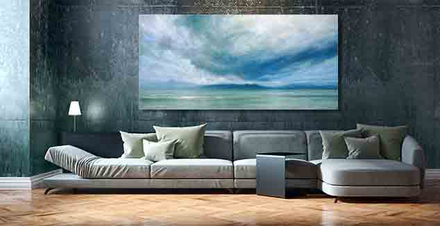 Storm Over Jura Painting by Derek Hare - darker wall color
