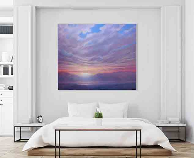 Sunrise After The Storm Painting by Derek Hare - Bedroom