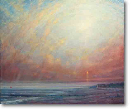 Sunset At Ferring Painting by Derek Hare