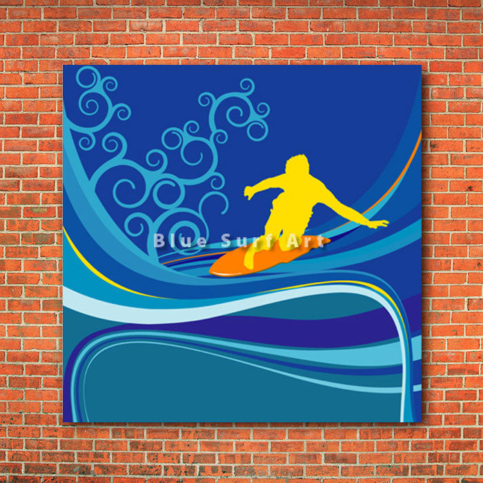 Surfing I - red bricks wall