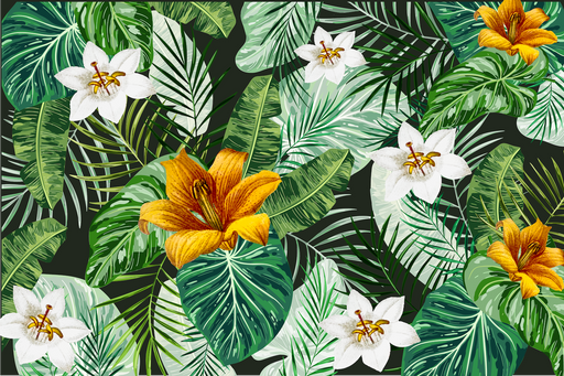 Canvas Print Tropical Flower Blossom