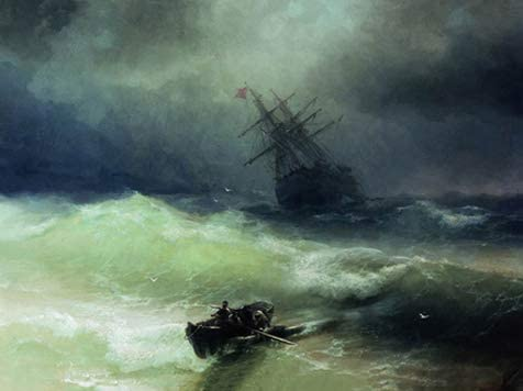 The Tempest by Ivan Aivazovsky Reproduction Painting by Blue Surf Art