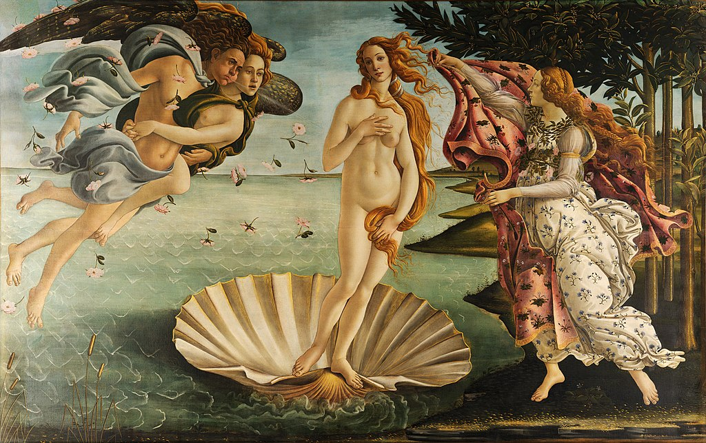 The Birth of Venus by Sandro Botticelli I Blue Surf Art