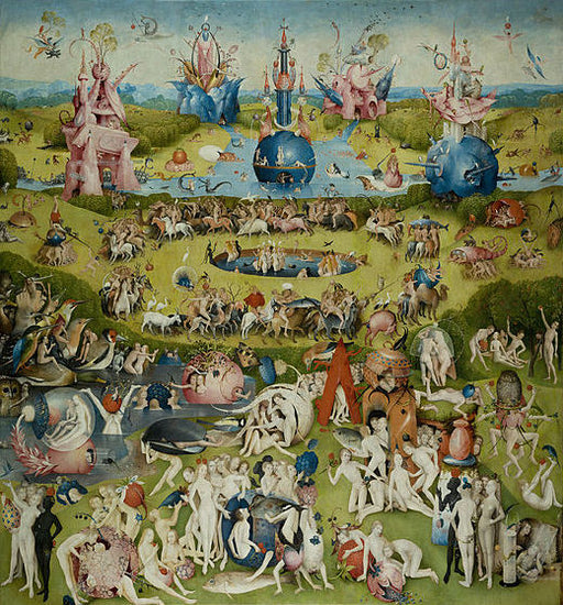 The Garden of Earthly Delights by Hieronymus Bosch I Blue Surf Art