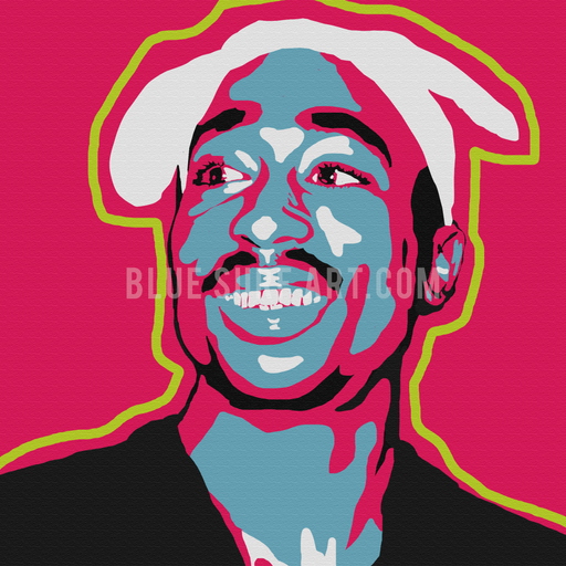 Tupac Shakur Canvas Art Painting