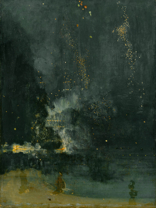 Nocturne in Black and Gold – The Falling Rocket by James Abbott McNeill Whistler Reproduction Painting by Blue Surf Art