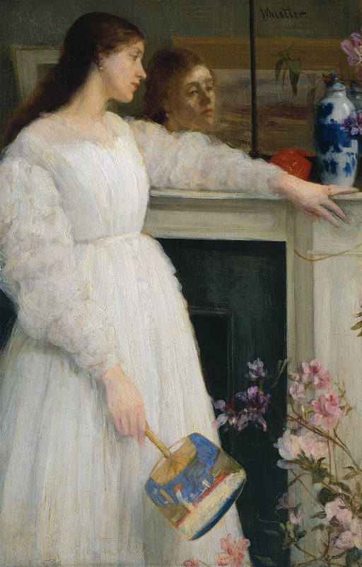Symphony in White, No. 2: The Little White Girl by James Abbott McNeill Whistler Reproduction Painting by Blue Surf Art