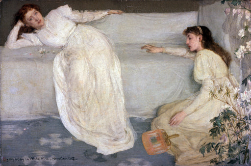 Symphony in White, No. 3 by James Abbott McNeill Whistler Reproduction Painting by Blue Surf Art