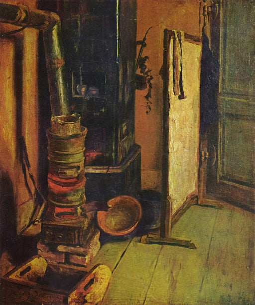 A corner of the studio by Eugène Delacroix Reproduction Painting by Blue Surf Art