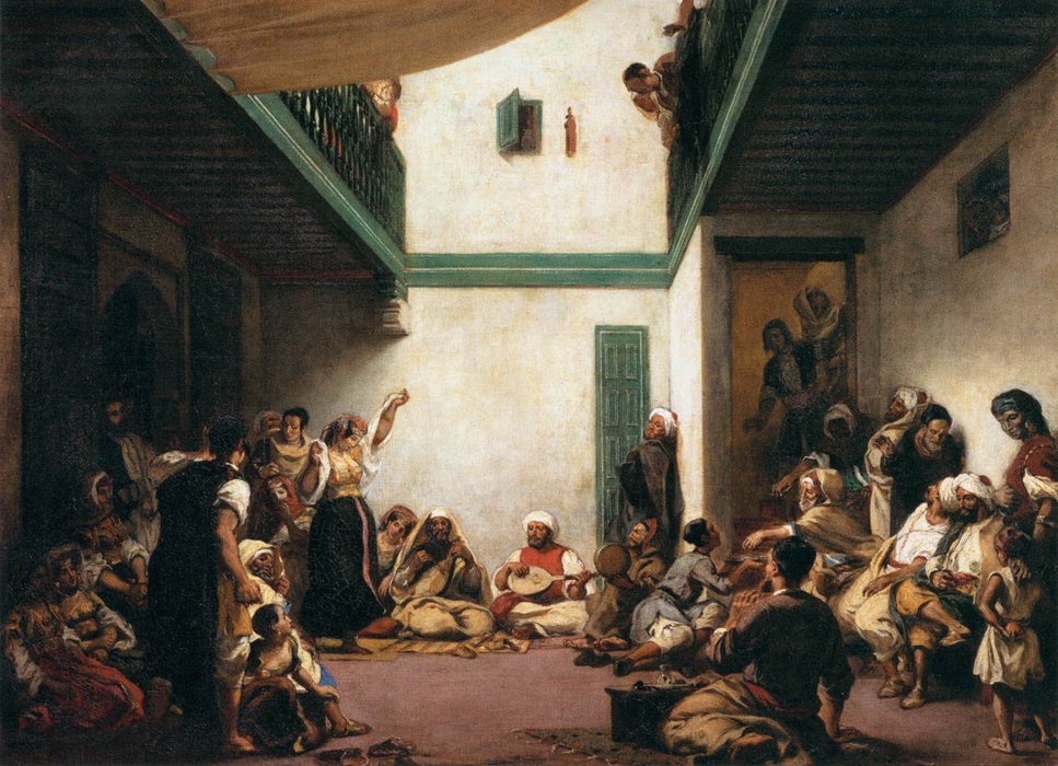 A Jewish wedding in Morocco by Eugène Delacroix Reproduction Painting by Blue Surf Art