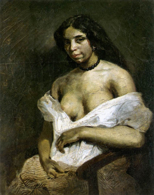 A Mulatto Woman by Eugène Delacroix Reproduction Painting by Blue Surf Art