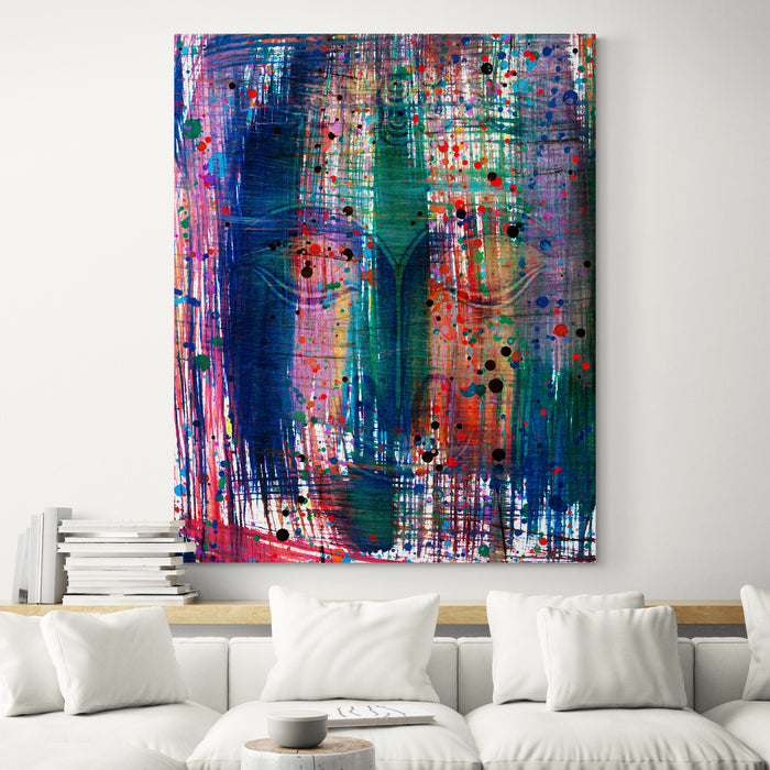 Multi Colour Buddha Portrait in Abstract Style Wall Art - living room