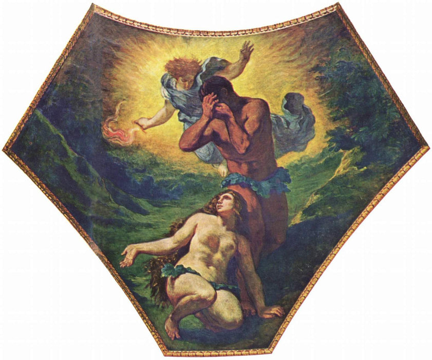 Adam and Eve by Eugène Delacroix Reproduction Painting by Blue Surf Art