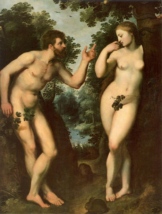 Adam and Eve by Peter Paul Rubens Reproduction Oil Painting on Canvas