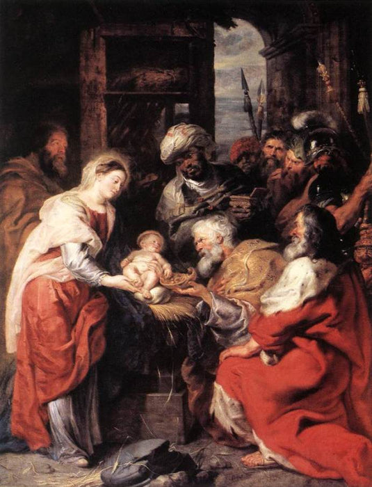 Adoration of the Magi by Peter Paul Rubens Reproduction Oil Painting on Canvas