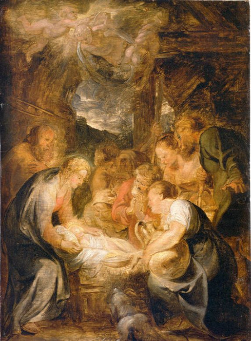 Adoration of the Shepherds by Peter Paul Rubens Reproduction Oil Painting on Canvas