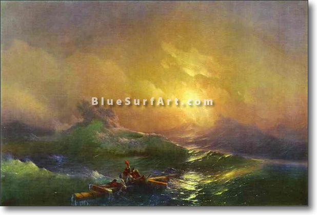 The Tenth Wave by Ivan Aivazovsky Reproduction Painting by Blue Surf Art