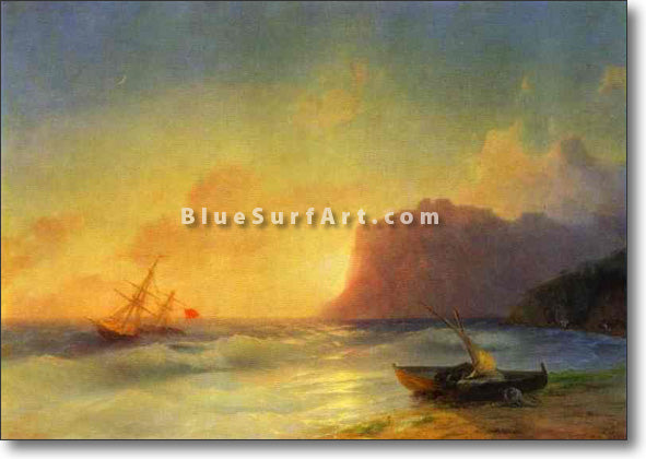 The Sea. Koktebel by Ivan Aivazovsky Reproduction Painting by Blue Surf Art