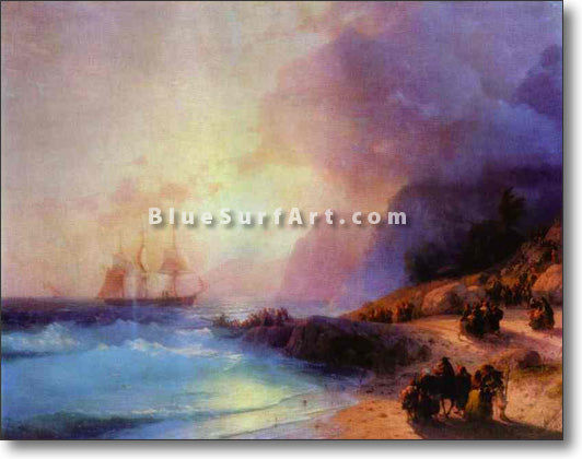 On the Island of Crete by Ivan Aivazovsky Reproduction Painting by Blue Surf Art