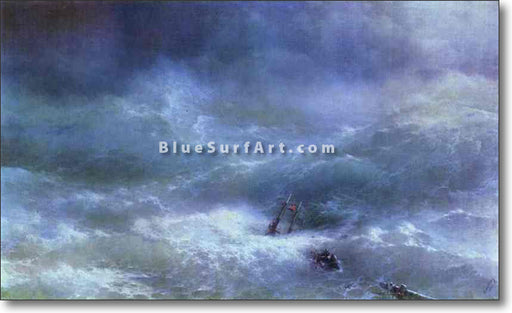 The Billow  by Ivan Aivazovsky Reproduction Painting by Blue Surf Art