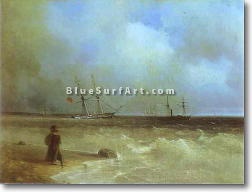 Seashore by Ivan Aivazovsky Reproduction Painting by Blue Surf Art