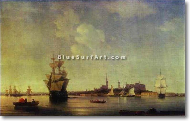 Reval (Tallinn) by Ivan Aivazovsky Reproduction Painting by Blue Surf Art
