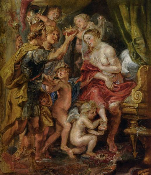 Alexander and Roxana by Peter Paul Rubens Reproduction Oil Painting on Canvas