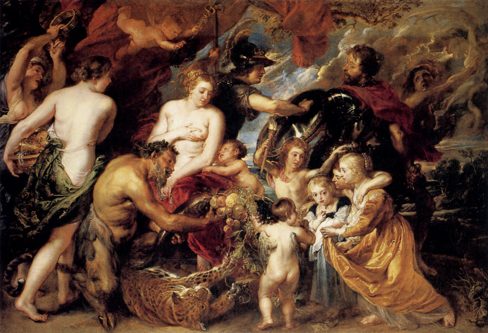 Allegory on the Blessings of Peace by Peter Paul Rubens Reproduction Oil Painting on Canvas