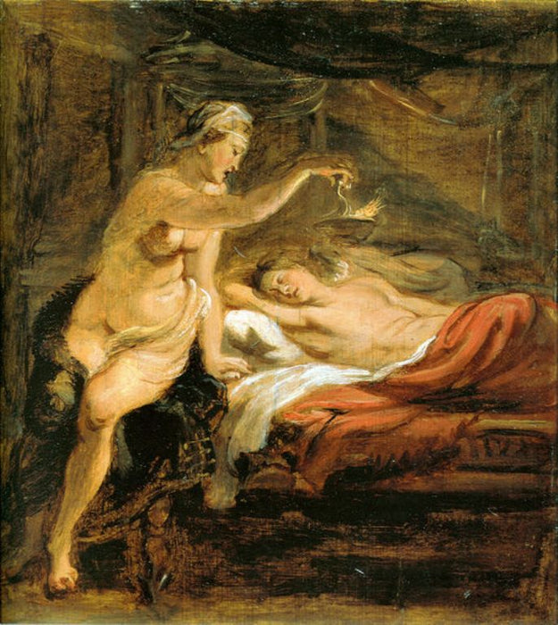 Amor and Psyche by Peter Paul Rubens Reproduction Oil Painting on Canvas