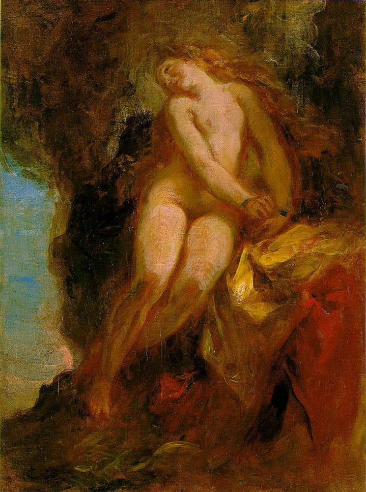 Andromeda by Eugène Delacroix Reproduction Painting by Blue Surf Art