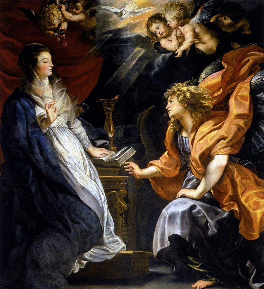 Annunciation by Peter Paul Rubens Reproduction Oil Painting on Canvas
