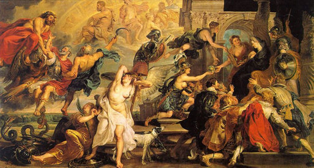 Apotheosis of Henry IV and the Proclamation of the Regency of Marie de Medici by Peter Paul Rubens Reproduction Oil Painting on Canvas