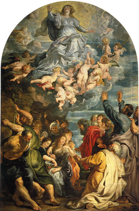 Assumption of Virgin by Peter Paul Rubens Reproduction Oil Painting on Canvas