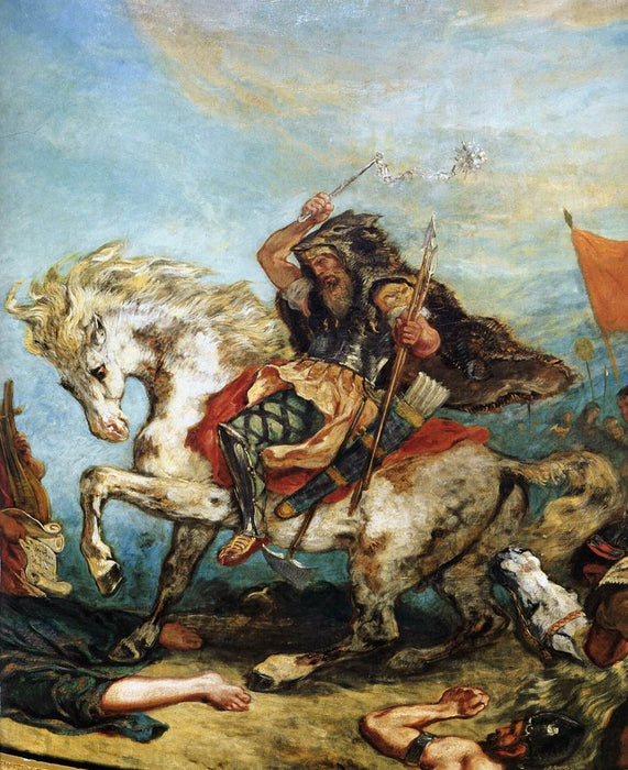 Attila the Hun by Eugène Delacroix Reproduction Painting by Blue Surf Art