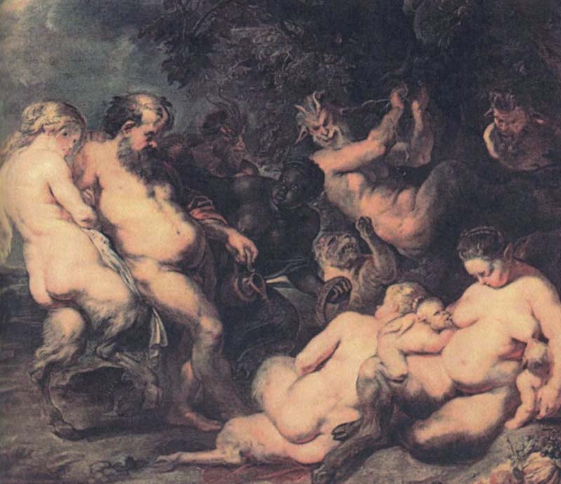 Bacchanale by Peter Paul Rubens Reproduction Oil Painting on Canvas