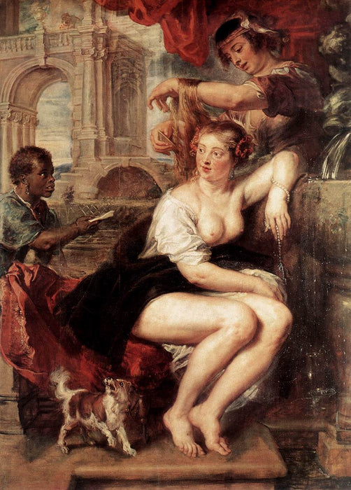 Bathsheba at the Fountain by Peter Paul Rubens Reproduction Oil Painting on Canvas
